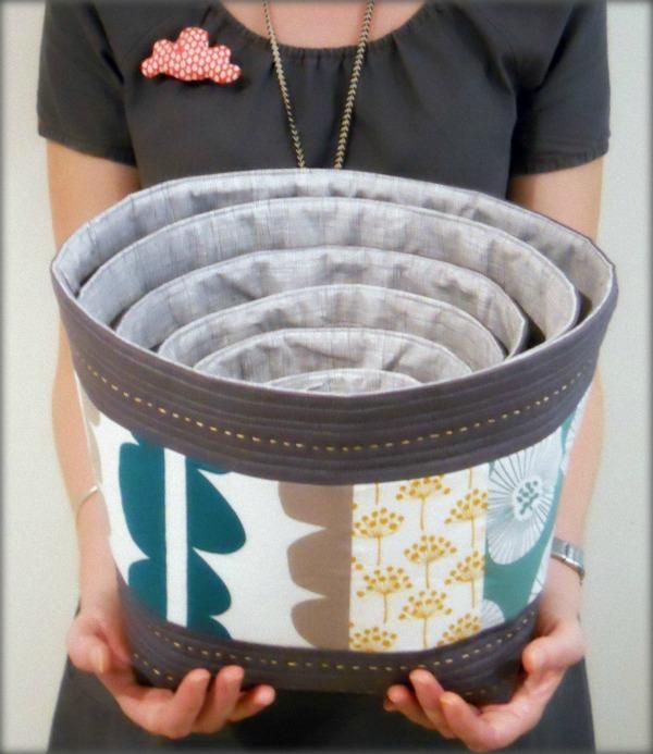 Quilted Fabric Bowls - Craftsy Member Pattern