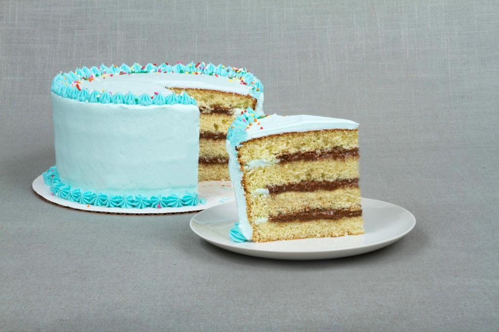 Blue Iced Filled and Layered Cake