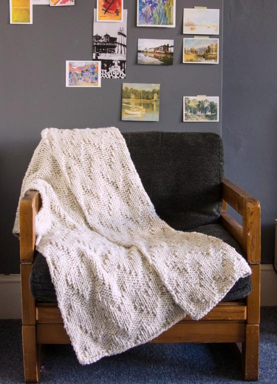Laurie knit blanket
