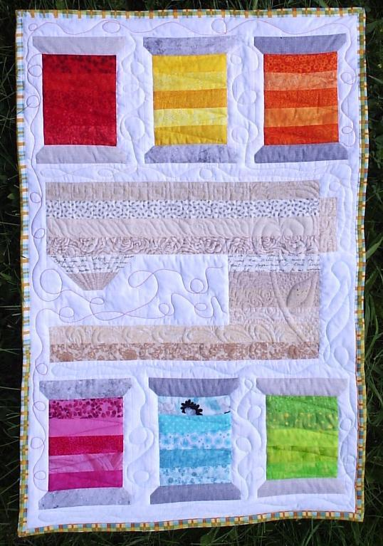 Quilt with Sewing Machine and Spool Design