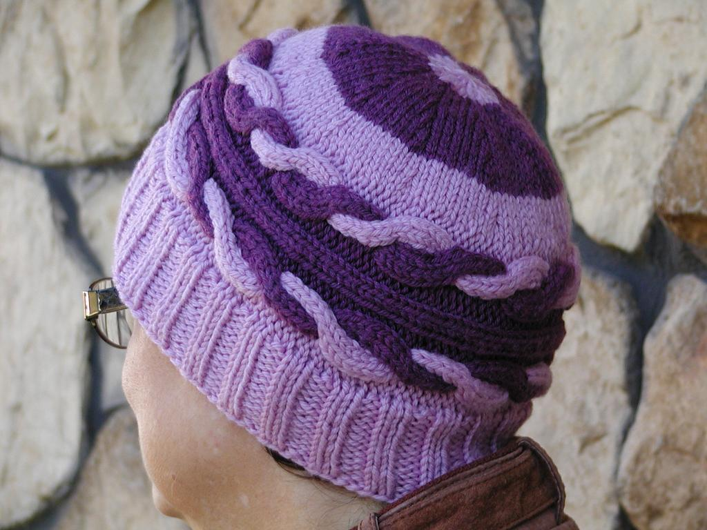 Purple tango knitted hat