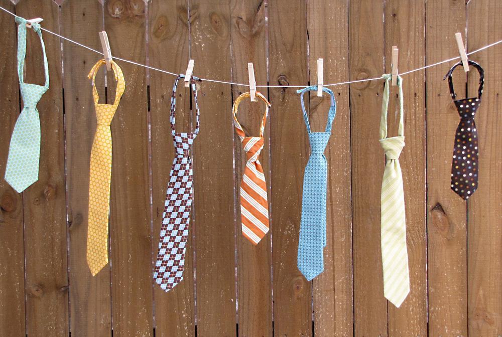 Ties on a Clothes Line - Tie Pattern on Bluprint.com