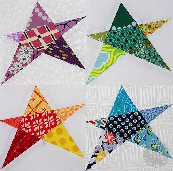 Confetti Start Quilt Block - Pattern on www.craftsy.com