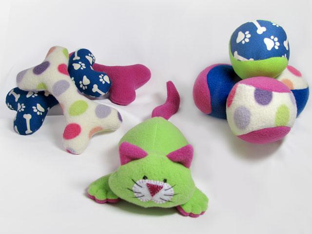 Sewn Dog Toys - Pattern on Bluprint