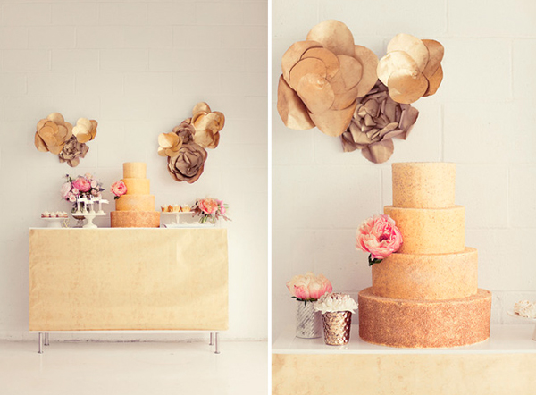 Tiered Golden Cake