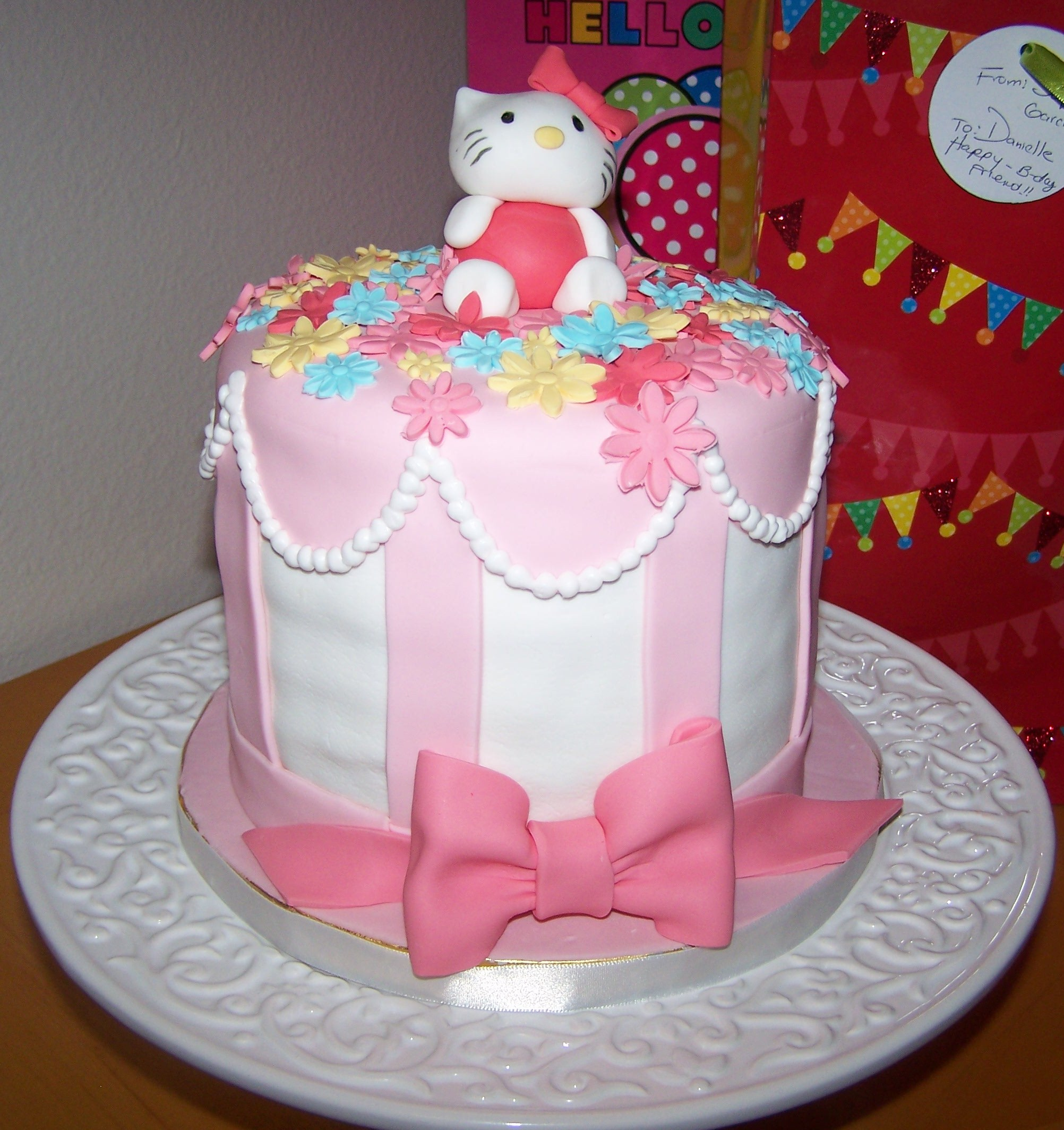 Decorated Cake with Air Bubbles