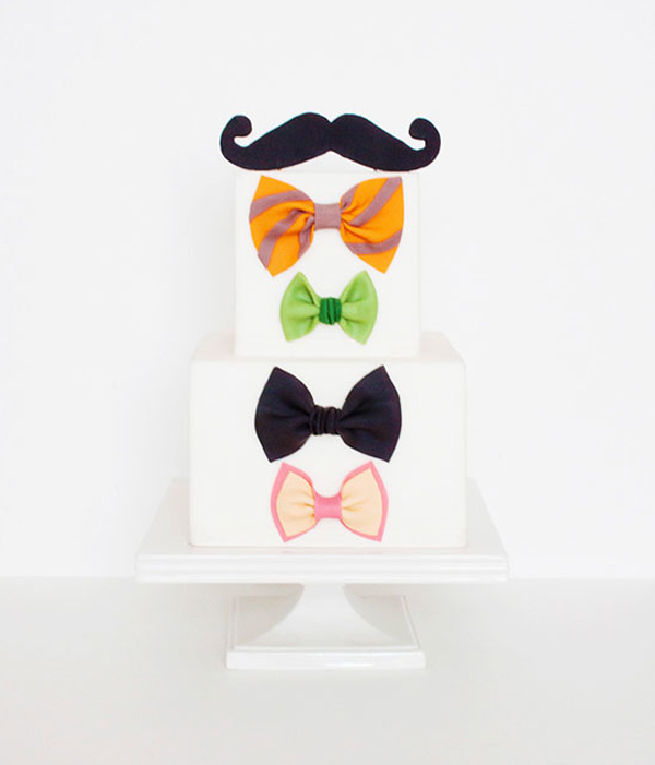 Tiered Cake Featuring Bow Ties