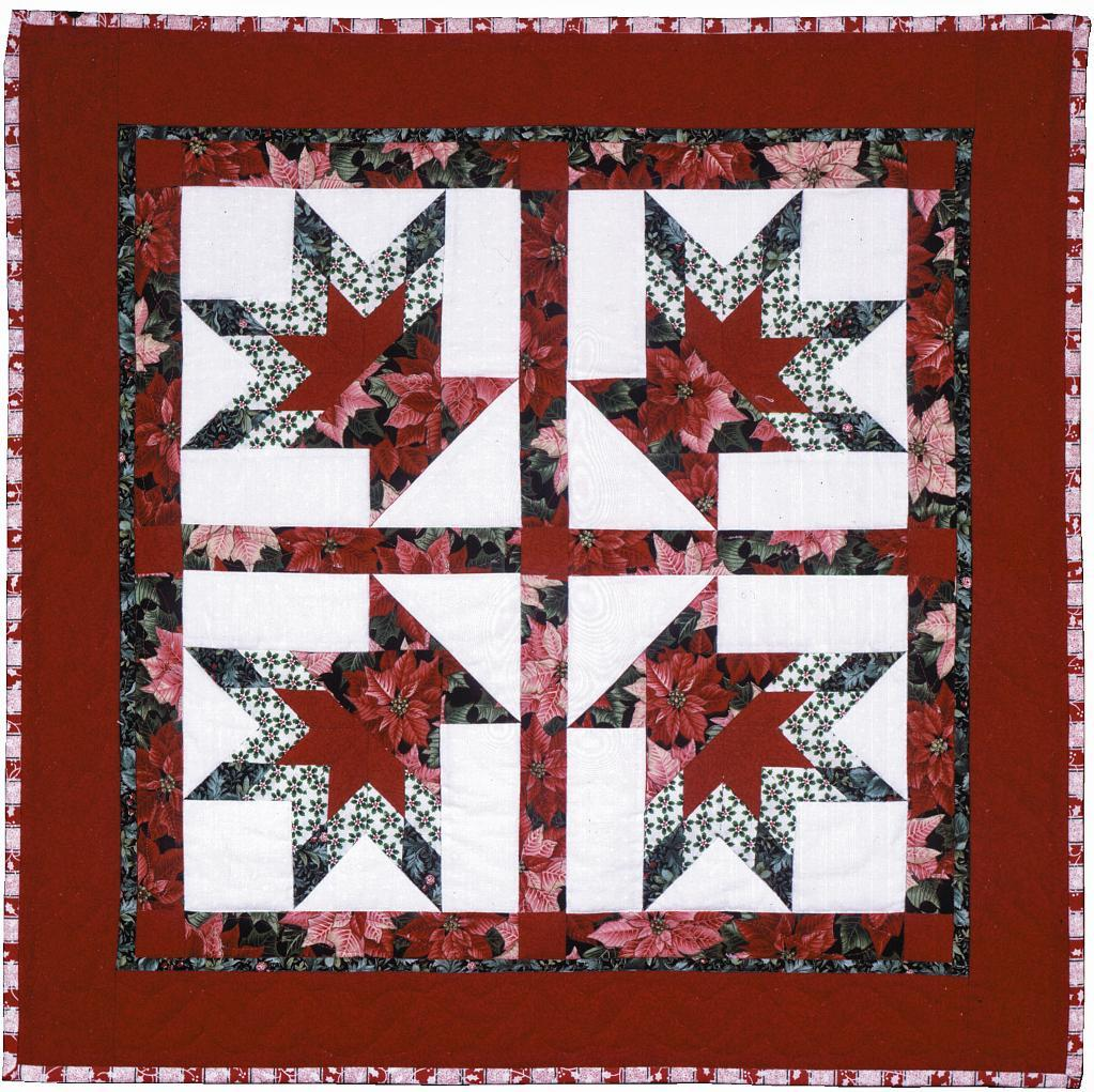 Poinsettia Basket Quilt - Pattern on Craftsy.com