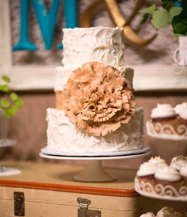 Bluprint Project - Cake with Large Ruffled Bow