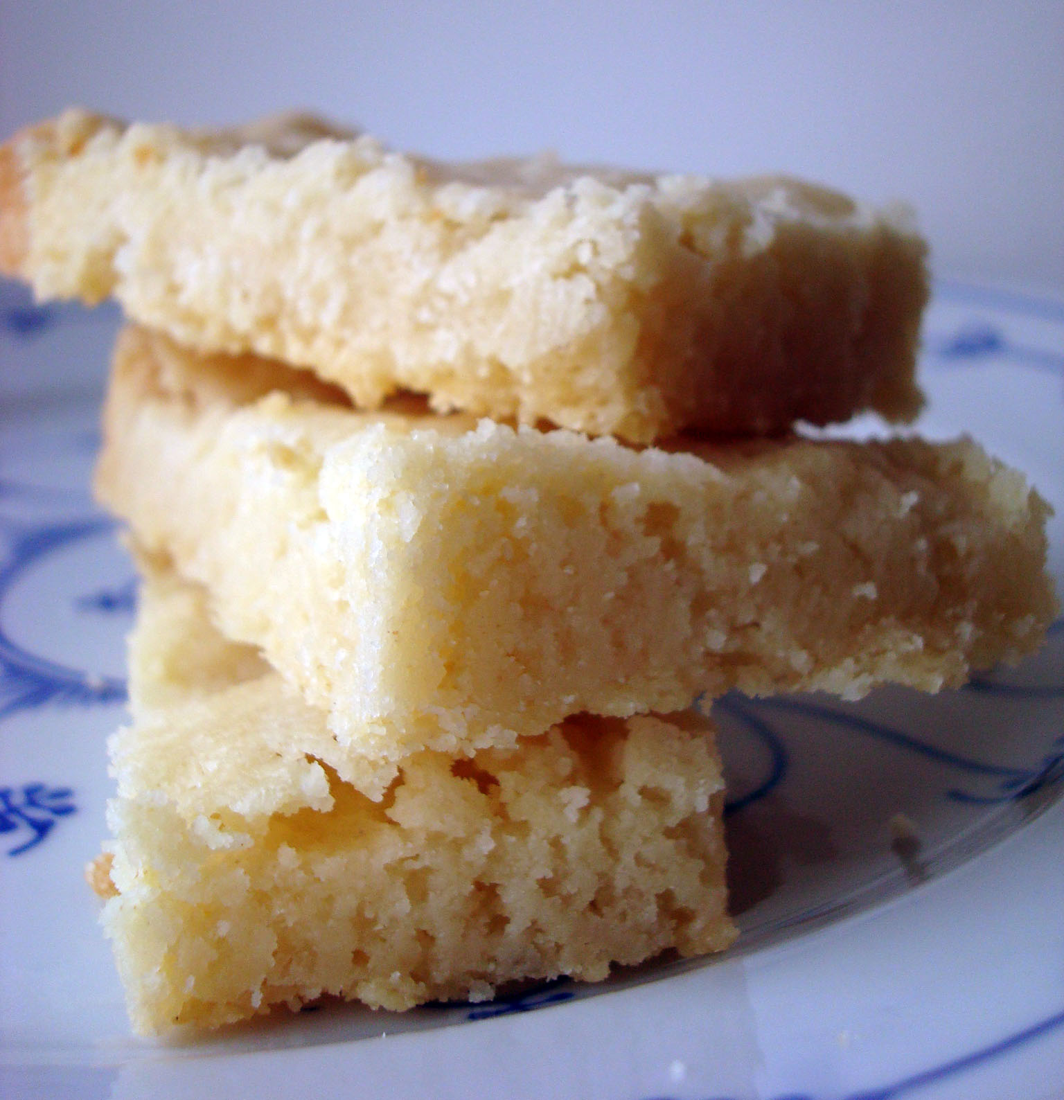 Stacked Pieces of Shortbread