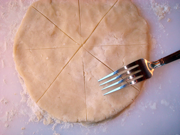 Perforating Shortbread with Fork