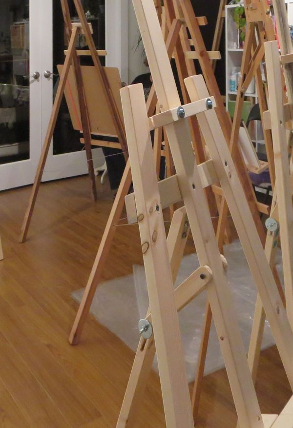 a frame easels on display in store