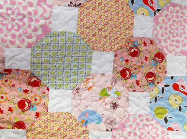 Snowball Quilt Block - Tutorial on Bluprint