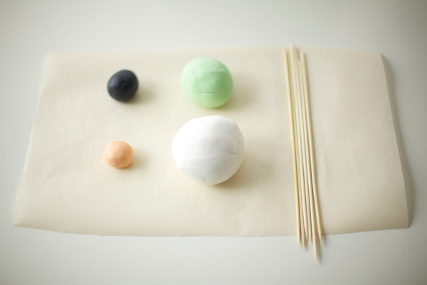Colored Fondant Rolled into Balls