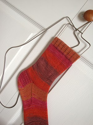 Placing Sock on Sock Form