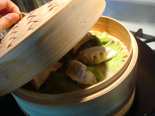 Steamed Dumplings in Bamboo Steamer - Bluprint.com