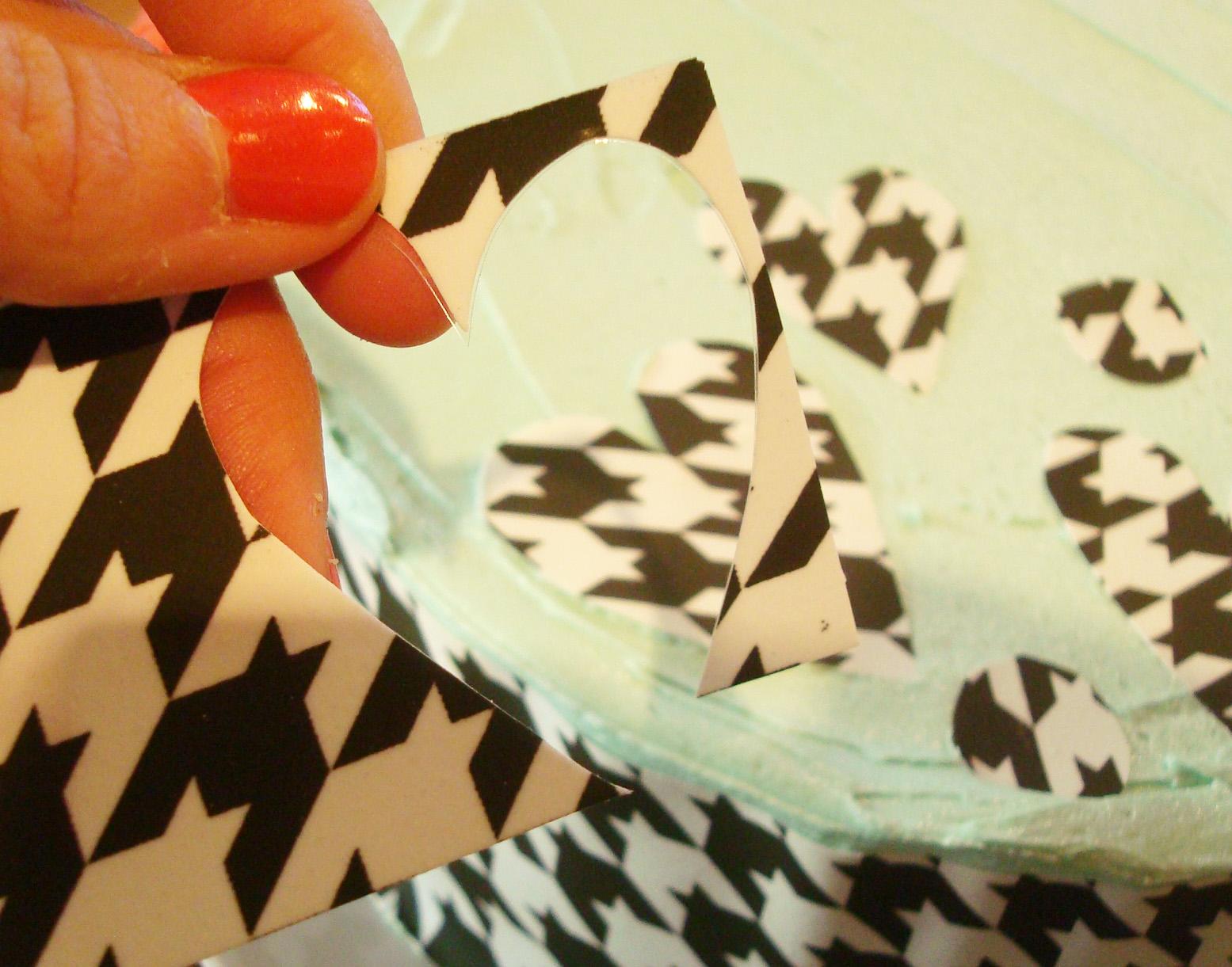 Cutting Shapes from Sugar Sheet