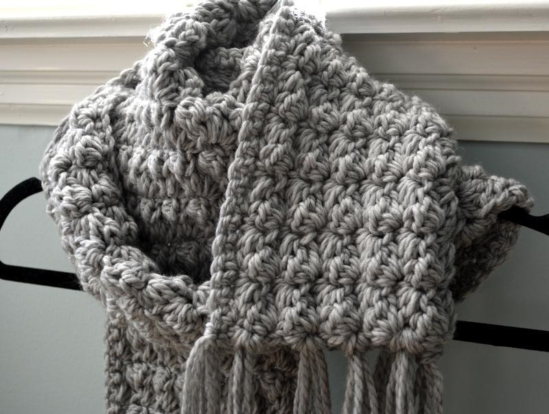 Textured crochet scarf