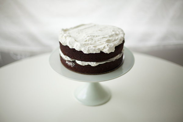 Topping Cake with Whipped Cream