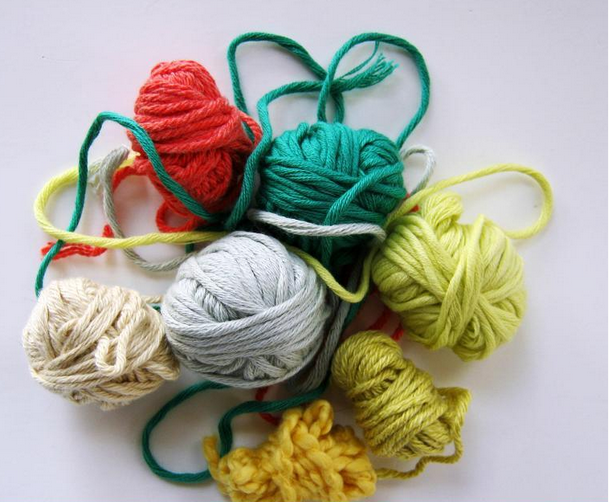 Loose Balls of Colorful Yarn