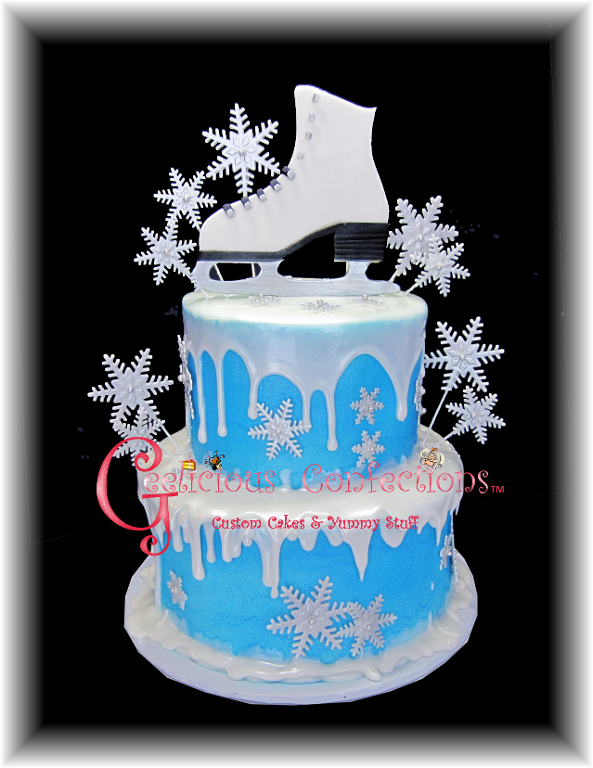 Ice Skate Cake - craftsy Member Project