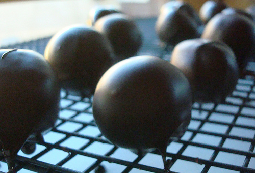 Finished Chocolate Truffles - Drying