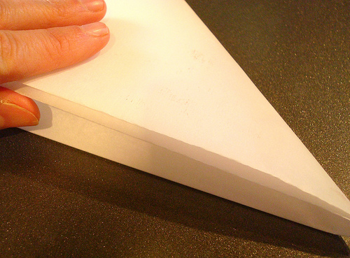 Placing Parchment Paper