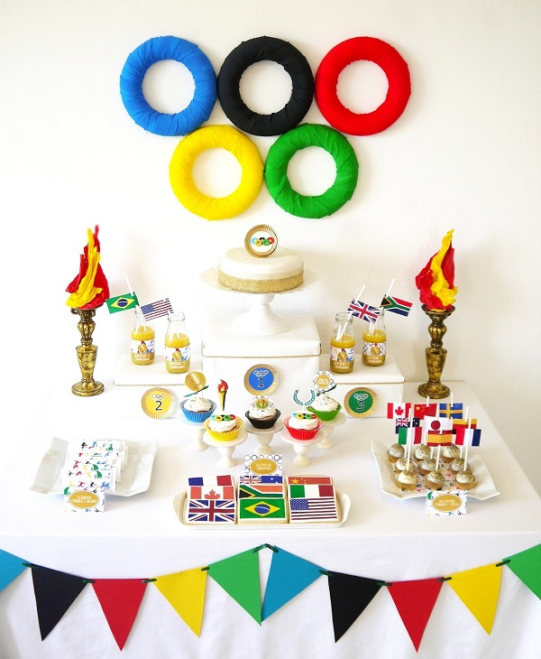 Winter Games Cakes for an Olympic Themed Party