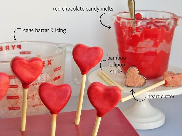 Ingredients Needed for Valentine's Cake Pops
