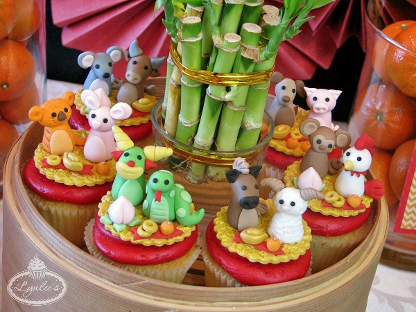Cupcakes Featuring Chinese Zodiac Animals