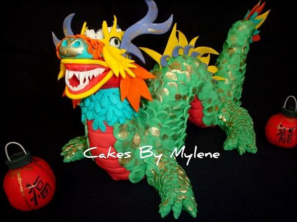 Cake Shaped as Dragon