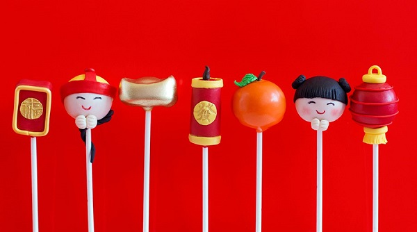 Cake Pops for Chinese New Years