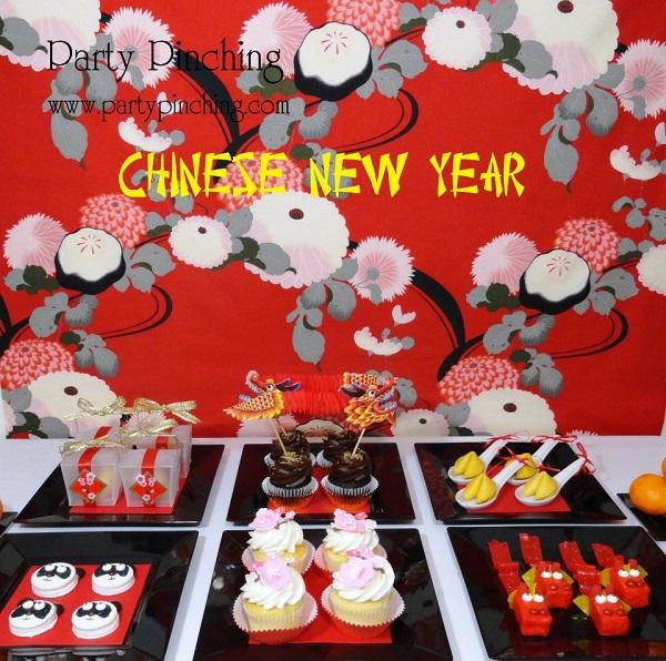 Chinese New Years Cake Setup