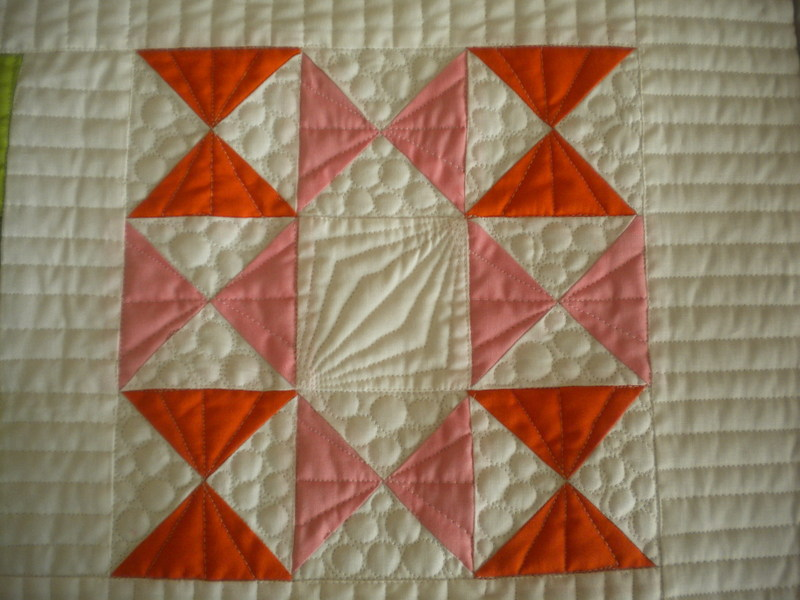 Hour Glass Quilt Design with Quarter Square Triangles