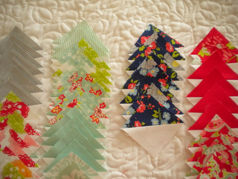 Patterned Fabric Triangles