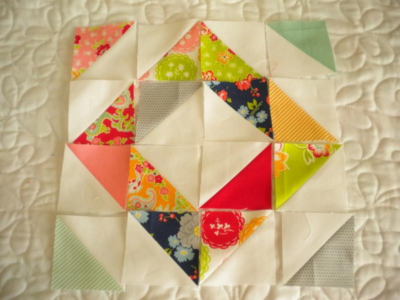 Diamond Design Example with Half Square Triangles