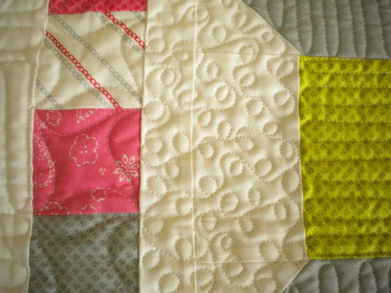 Close-up on Longarm Quilt Design