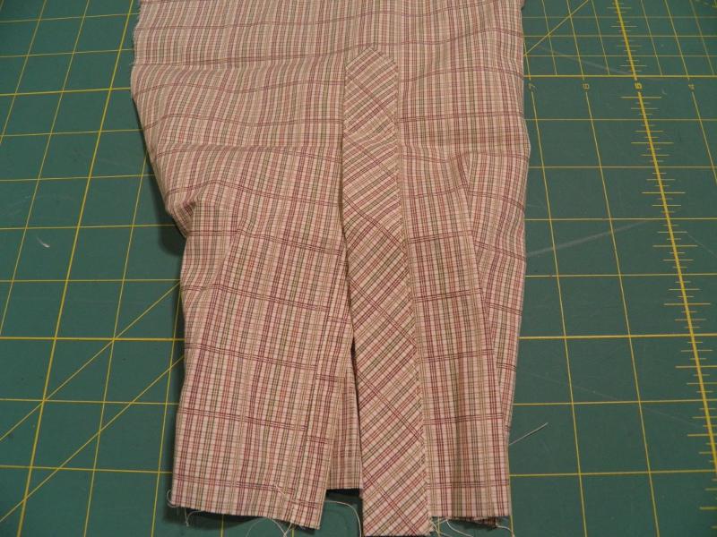Final placket stitching on dress shirt