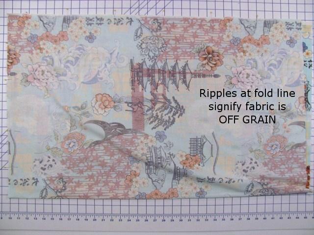 Fabric Folded - Off Grain