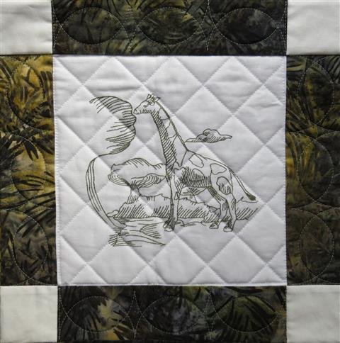 Quilt with Grid