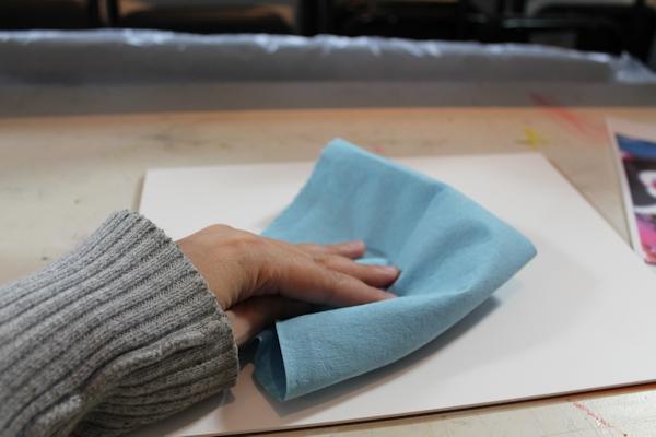Wiping Yupo Paper