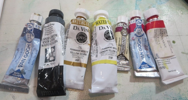 selecting your palette - paints