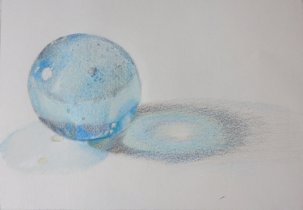 Adding Shadow with Colored Pencils