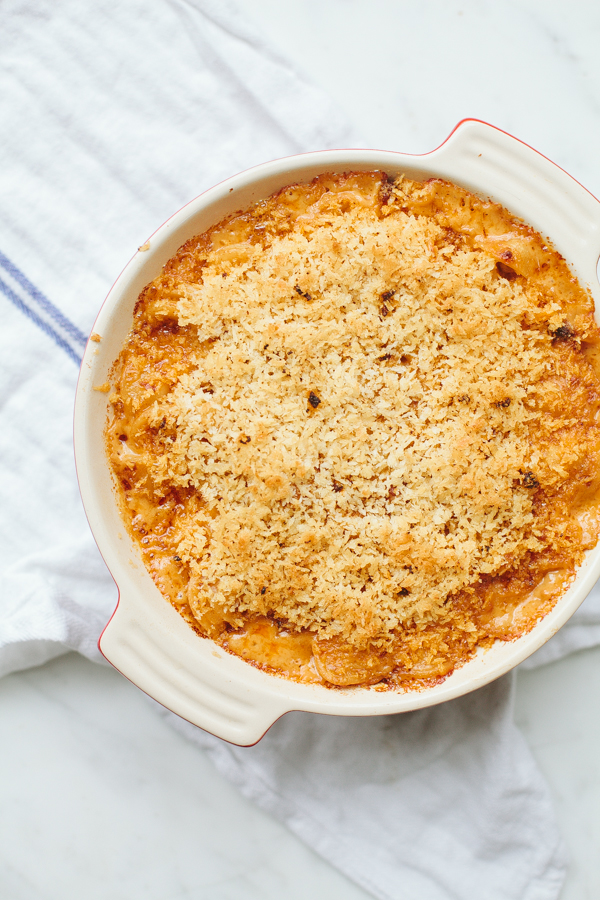 Mac and Cheese Bubbling in Pan - Recipe on Craftsy