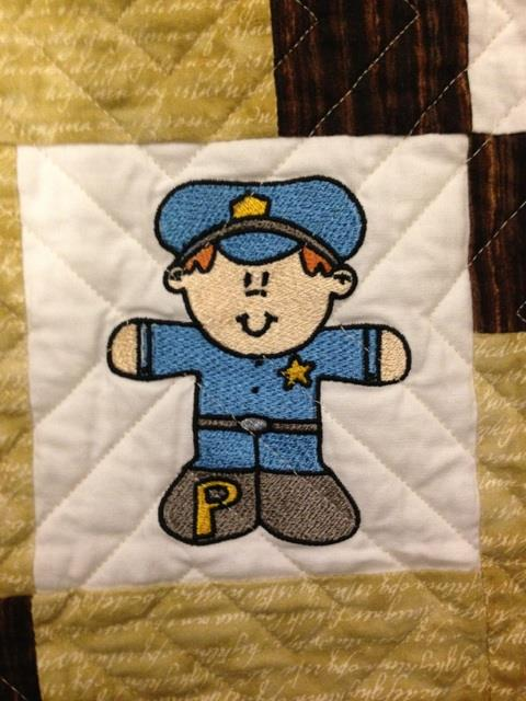 Machine Embroidered Policeman