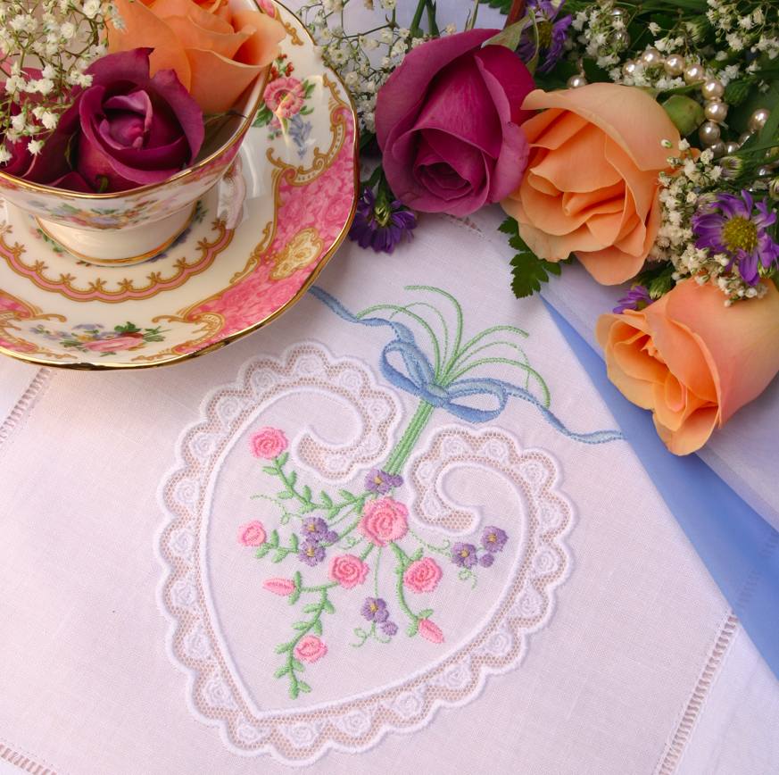 Floral Embroidered Napkin