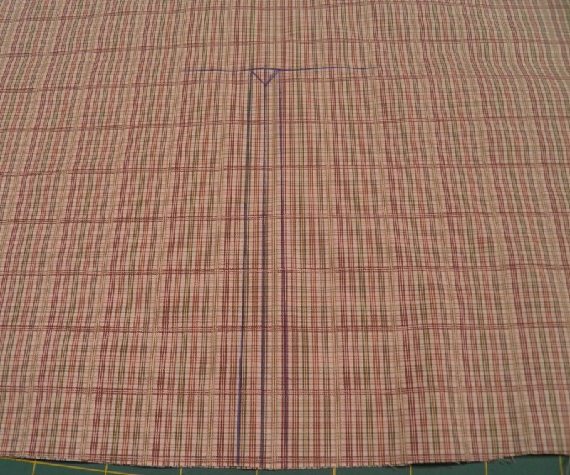 Stitching and cutting lines on sleeve