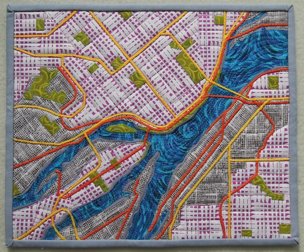 Quilted Map of New York City