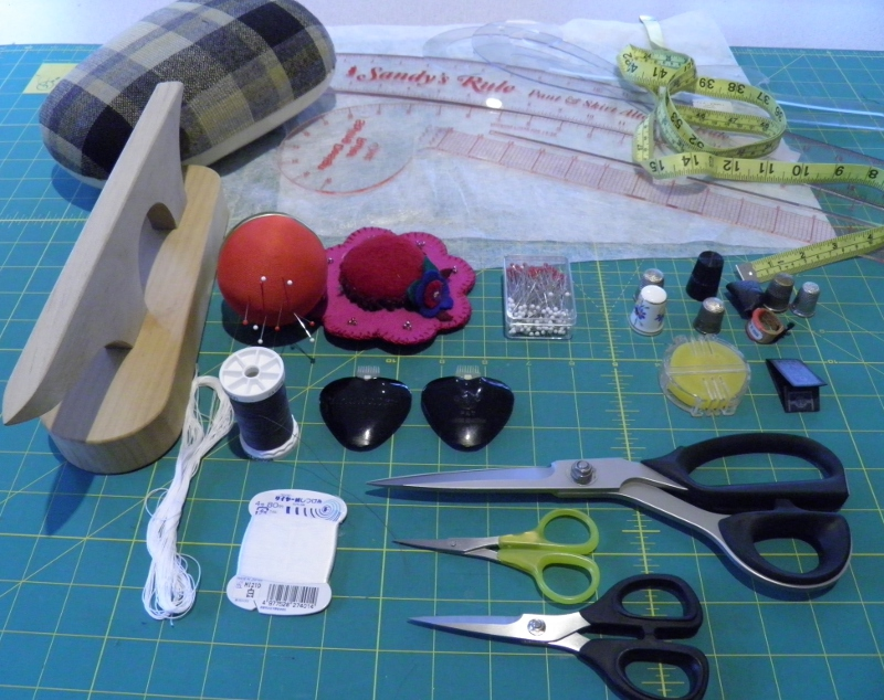 Couture sewing supplies collage