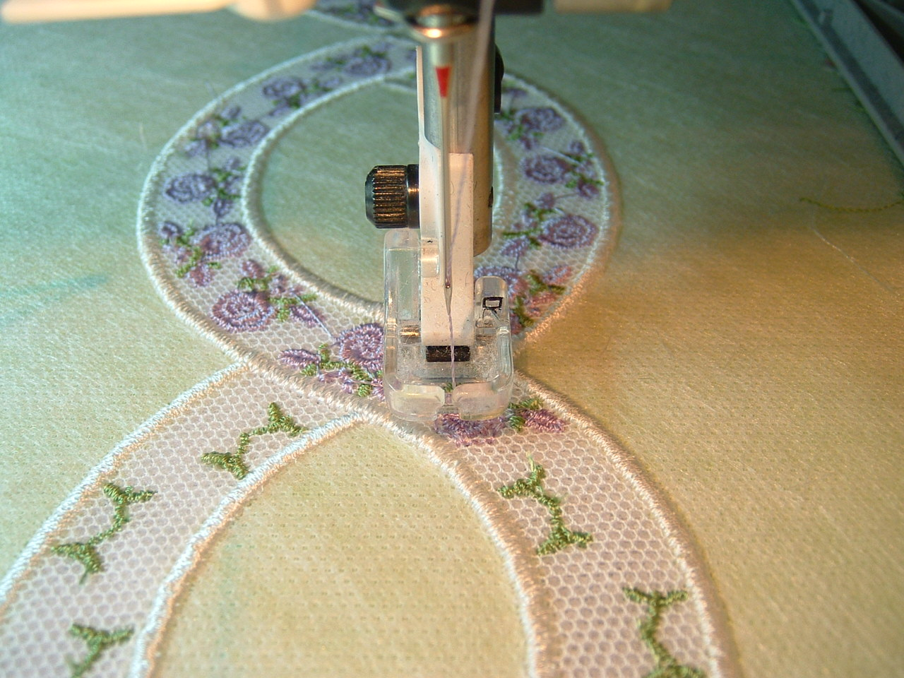 Embroidering on a Machine